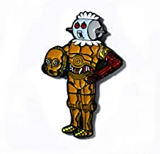 Rosie The Robot Maid Meets C-3PO Jetsons Star Wars Pendant Lapel Hat Pin