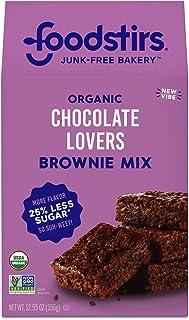 Foodstirs Junk-Free Bakery Organic Chocolate Lovers Brownie Baking Mix, 12.55 Oz | Non-GMO | Low Sugar