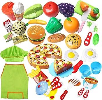 40 Piece Pretend Cutting Play Food Set