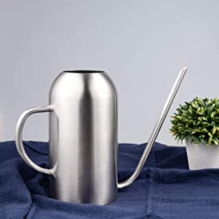 IMEEA Watering Can for Indoor House Plants Long Spout Brushed Stainless Steel Watering Pot, 45oz/1.3L