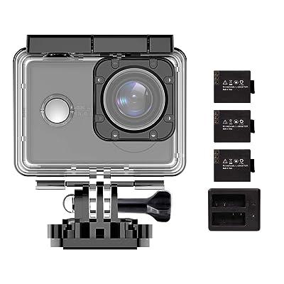 Waterproof Action Camera 4K Sports Video Camera...