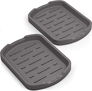 GOOD TO GOOD Silicone Sponge Holder - Soap Tray - Sink Organizer Set of 2 - for Stove Spoon holder, Kitchen Sponges, Soap ...