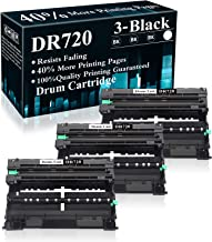 GREENCYCLE Compatible for Brother DR720 DR-720 Drum Unit Replacement for HL-5450DN HL-6180DW HL-5470DWT MFC-8910DW MFC-8950DW MFC-8510DN MFC-8950DWT MFC-8810DW DCP-8155DN Printers Black, 4 Pack