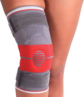 featured product ORTONYX Ligaments and Patella Support Knee Brace - M Gray/Red