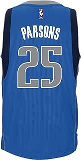 adidas Chandler Parsons Dallas Mavericks NBA Men's Blue Climacool Swingman Away Jersey