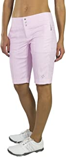 Jofit Women's Athletic Clothing Long Bermuda Golf Shorts with Back Pockets, Fitted Athletic Clothes