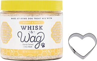 Whisk & Wag Natural Dog Treat Baking Mix, 8.5 Ounce Jar of Honey and Oats for Healthy Skin, Coat and Digestive Health
