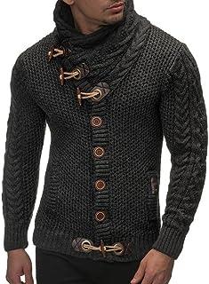 Usstore 👕 Men Autumn Winter Casual Cardigan Sweater Long Sleeve Coat  Knitting Buckle Keep Warm Sweater 8e05fd8c72a1