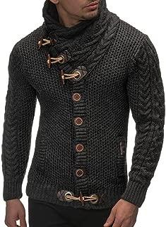 Usstore     👕 Men Autumn Winter Casual Cardigan Sweater Long Sleeve Coat Knitting Buckle Keep Warm Sweater Coats