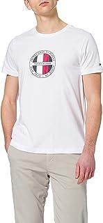 Neuf avec étiquettes pour homme TOMMY HILFIGER manches courtes Buttondown Shirt Nautique Drapeaux Print 7 A