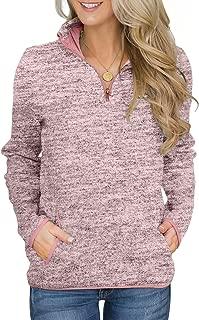 Women's Long Sleeve High Collar 1/4 Zip Pullover Sweatshirt with Pocket(5 Color,S-XXL)