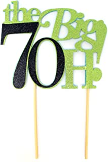 All About Details The Big 7OH! Cake Topper, 1pc, 70th Birthday Cake Topper, 70th Anniversary Cake Topper, 70th Birthday De...