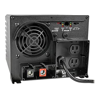 Tripp Lite 750W Power Inverter / Charger, 12V DC to 120V AC, 20A, 2 Outlet, 5-15R, 1 Year Warranty (APS750)