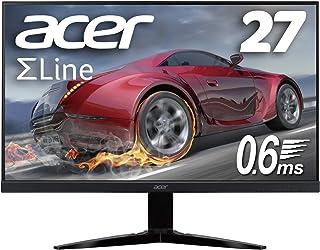Acer ゲーミングモニター SigmaLine 27インチ KG271Dbmiix 0.6ms(GTG) 75Hz TN FPS向き フルHD FreeSync フレームレス HDMIx2 スピーカー内蔵 ブルーライト軽減