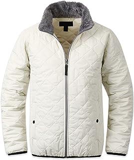 f5bdeea03c5e EnvyLook Mens Fur Collar Quilt Padding Coat Blazer Jacket Jumper Parka C015