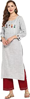 Indian Tunic Tops Cotton Kurti Set for Women