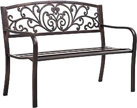 Explore metal garden benches for outdoors
