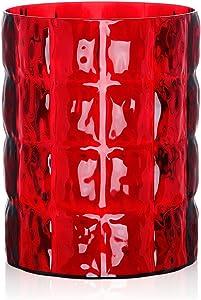 Kartell 1225MR - Vaso Matelassé, Colore: Rosso