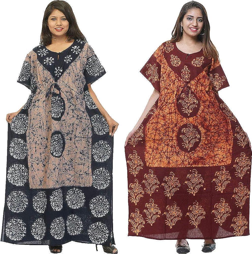 Cotton Price reduction Challenge the lowest price of Japan Caftan Kaftan Nightgown Indian Long Bohemian Batik