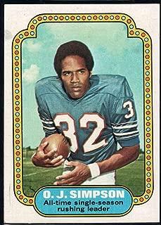 Football NFL 1974 Topps #1 O.J. Simpson UER Bills