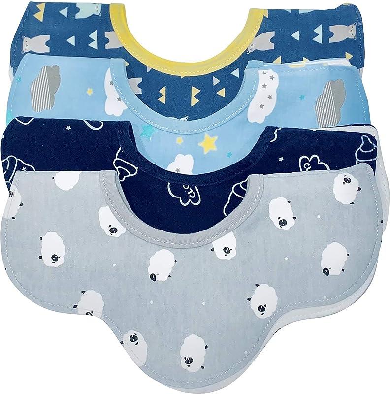 Baby E Baby Drool Bibs For Boys Super Absorbent Cotton Waterproof Baby Bibs