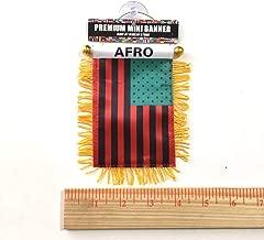 African American Flag Mini Banner Afro Design