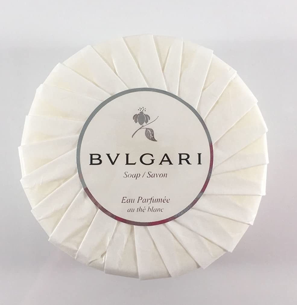 びん論理四分円ブルガリ オ?パフメ オーテブラン デラックスソープ150g BVLGARI Bvlgari Eau Parfumee au the blanc White Soap