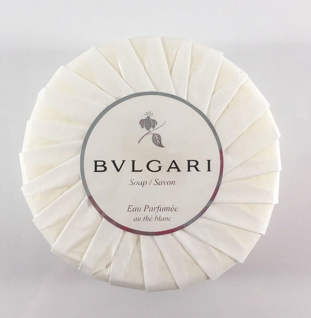 炭水化物母性かび臭いブルガリ オ?パフメ オーテブラン デラックスソープ150g BVLGARI Bvlgari Eau Parfumee au the blanc White Soap