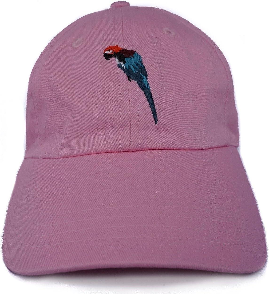 row + low Parrot Kids Size Dad High order - Hat Cotton Adjustable Time sale Pink Cap