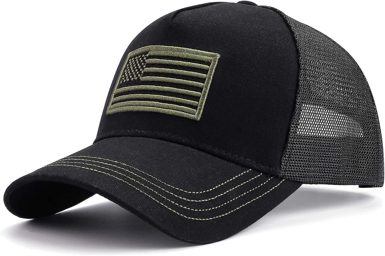 FALETO Baseball Cap US Patriotic Hat Dad Trucker Cap Classic Polo Style Sun Hat