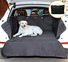 Small SUV Trunk Cover for Dogs, Pet SUV Cargo Liner for Dogs Protector with High Sides Car Seat Cover Bed Mat Waterproof Non-slip Bumper Flaps Durable Folding Collapsible for Compact SUV - Black