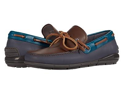 Salvatore Ferragamo Simeon Boat Shoe (Brown Sugar) Men