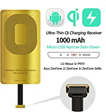 AmyZone Fast QI Receiver for iPhone 7/7 Plus/6/6 Plus/6s/6s Plus/5/5s/5c Ultra-Slim 5w 1000mAh Wireless Charging Receiver Adapter Compatible All Wireless Chargers