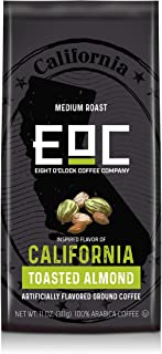 Eight O'Clock Coffee Flavors of America Ground Coffee, California Toasted Almond, 11 Ounce