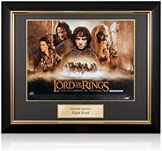 Elijah Wood Signed The Lord Of The Rings Poster Deluxe Frame | Autographed Memorabilia