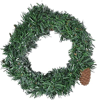 Amazon Com Northlight Canadian Mini Pine Artificial Christmas Wreath 12 Inch Unlit Home Kitchen