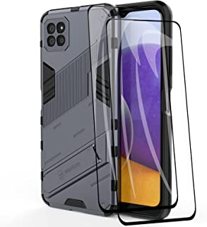 GOGME Case voor Samsung Galaxy A22 5G en 2 Screen Protector, Robuuste Dubbellaags Hybrid Armor Cover, Anti-Scratch PC Acht...