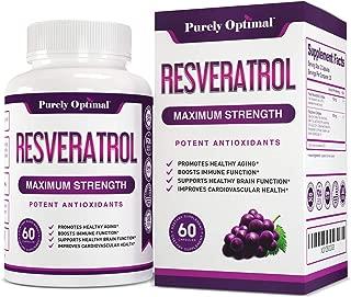 Premium Resveratrol Supplement Max Strength 1500mg (Vegetarian Caps) - Potent Antioxidants, Trans Resveratrol Capsules for Anti-Aging, Brain Function, Heart & Immune Health Supplements - 30 Day Supply