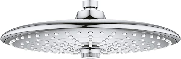 Grohe 26457000 Euphoria 260 Shower Head With 3 Spray Patterns 2 5 Gpm StarLight Chrome