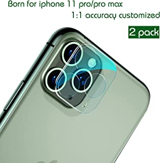 for iPhone 11 Pro/iPhone 11 Pro Max Camera Lens Protector, Vidafelic Bubble-Free Anti-Scratch Camera Lens Screen Flexible Ultra-Thin Glass Protector Film(2 Pack)