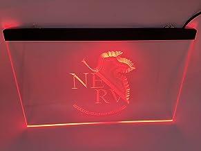 jxledsign red Neon Genesis Evangelion NERV Beer Bar Budweiser Led Light Sign