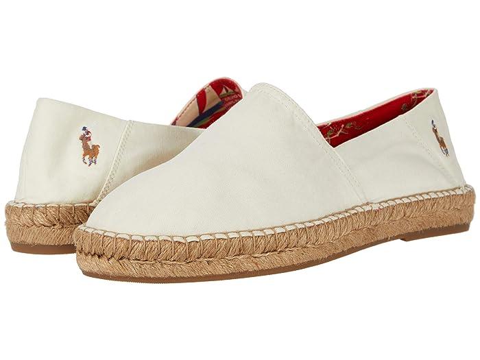 1930s Men's Shoe Styles, Art Deco Era Footwear Polo Ralph Lauren Cevio Slip Chic Creme Mens Shoes $72.00 AT vintagedancer.com