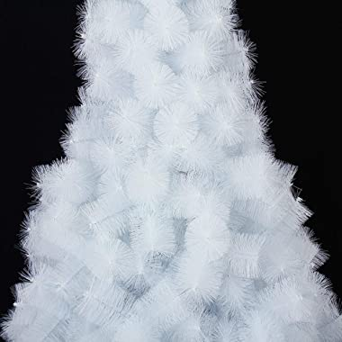 Christmas Tree Trees Indoor Artificial Decoration Tree 150cm White Pine Needle Hotel Christmas Decorations (Color : White, Si
