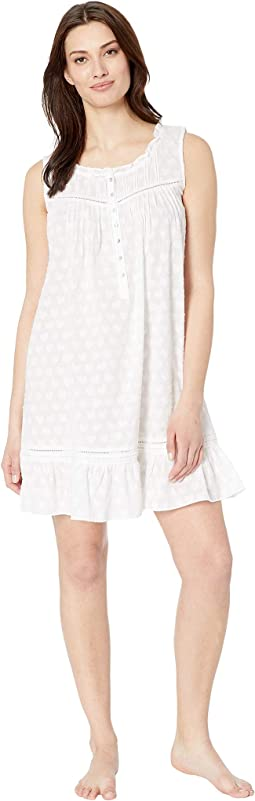 Cotton Woven Heart Jacquard Short Chemise