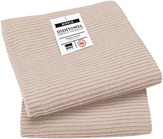 Now Designs Ripple Kitchen Towel, Set of 2, Oyster