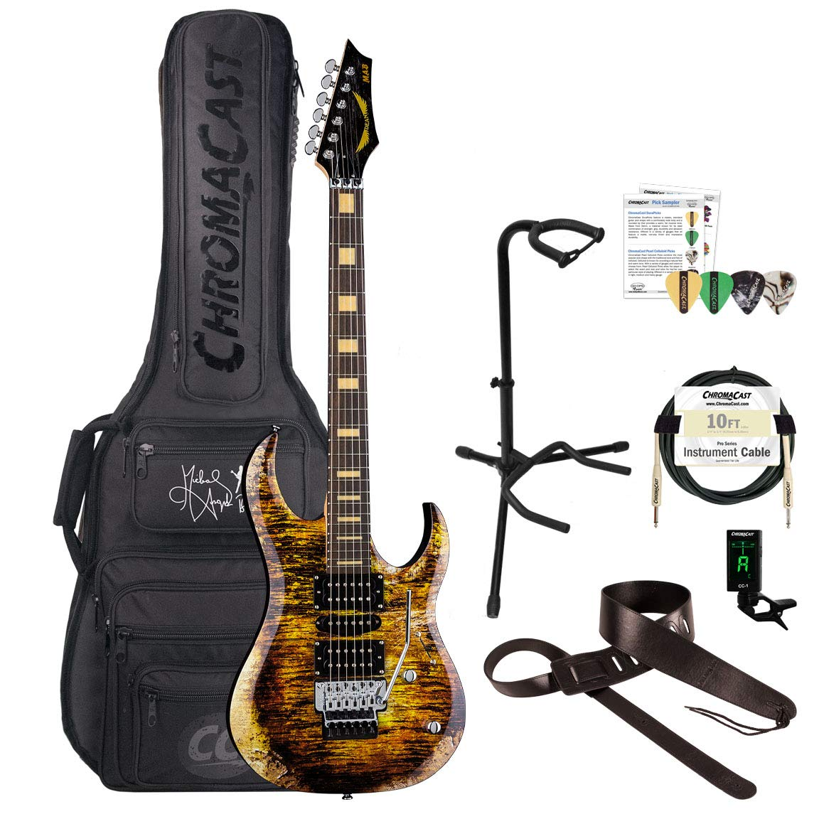 Cheap Dean Michael Angelo Batio Signature Solid-Body Gold Relic Electric Guitar with MAB Signature Padded Gig Bag Clip-On Tuner Strap Stand Picks & Cable Black Friday & Cyber Monday 2019
