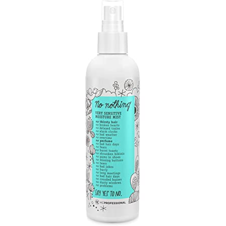 No nothing Very Sensitive Moisture Mist - Moisturizing and Conditioning Leave-in Mist - Fragrance free, Unscented, Vegan, Hypoallergenic, Sensitive Detangling spray - 8.5 fl oz