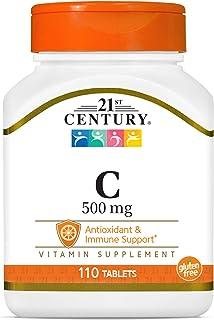 Vitamin C, 500 mg, (as Ascorbic Acid), Antioxidant & Immune System Support, 110 Tablets
