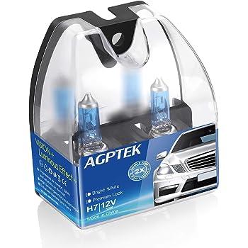 AGPTEK H7 Halogen Headlight Bulb with Super White Light 12V/55W 5000K, High Performance Long Life Fog Replacement Bulb,2 Pack