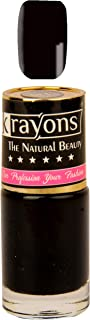 KRAYONS GEL BASE GLOSSY EFFECT NAIL POLISH ENAMEL COLOR, 6ML SAFE DRY FAST COLLECTION FOR WOMEN, TEENS, KIDS (BLACK SEA)